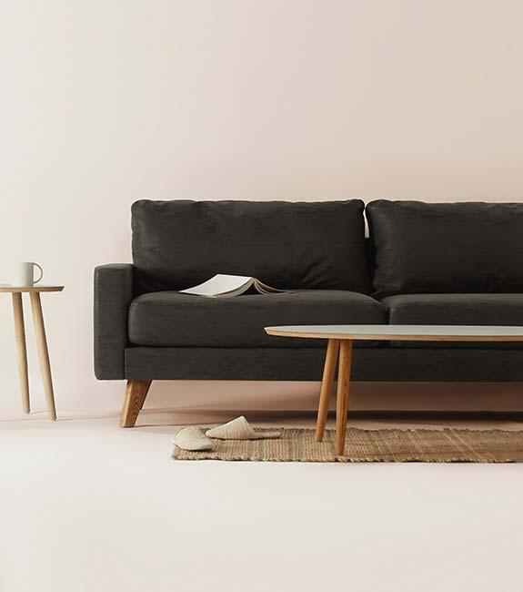 Black armchair model